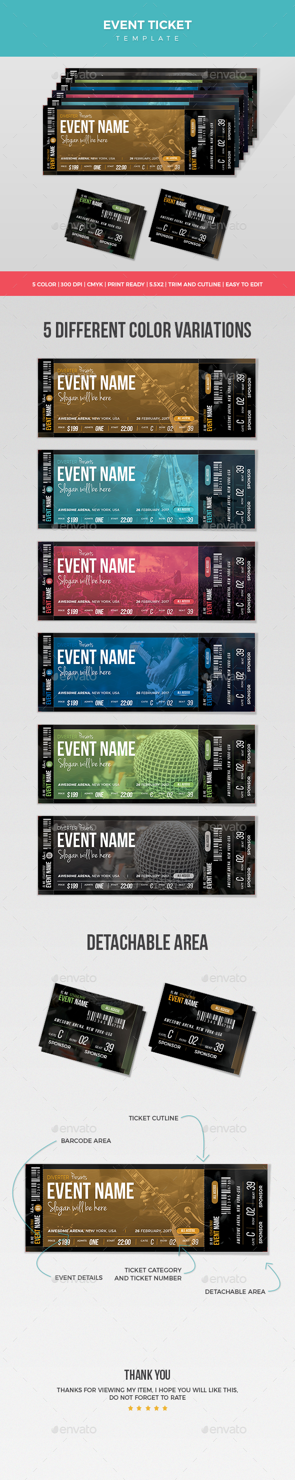 Event Ticket - Miscellaneous Events