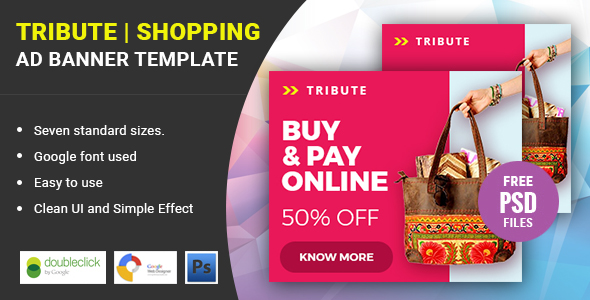 Tribute Shopping | HTML 5 Animated Google Banner - CodeCanyon Item for Sale
