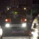Fire Scene at Night with Fire Trucks and Flashing Lights on the Street. Unbranded Vehicles - VideoHive Item for Sale