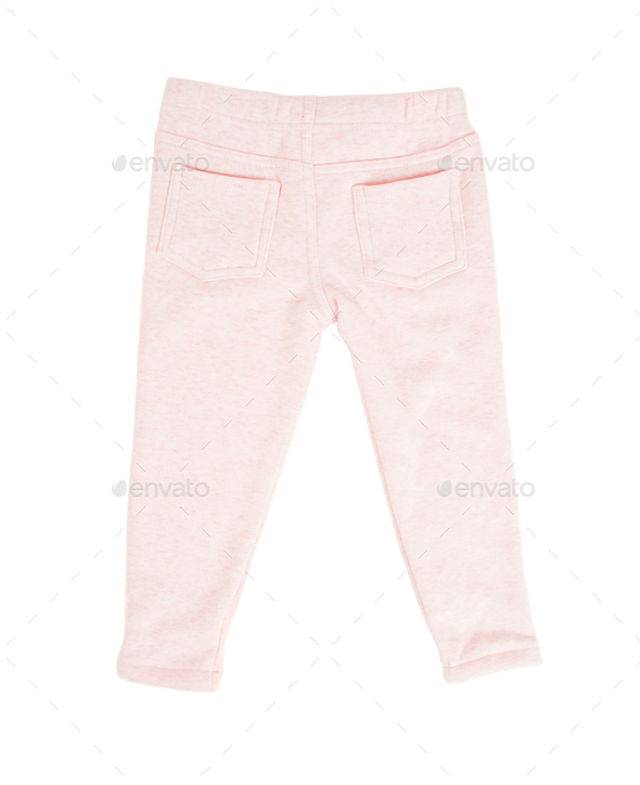 Cotton pink sport pants for childrens. - Stock Photo - Images