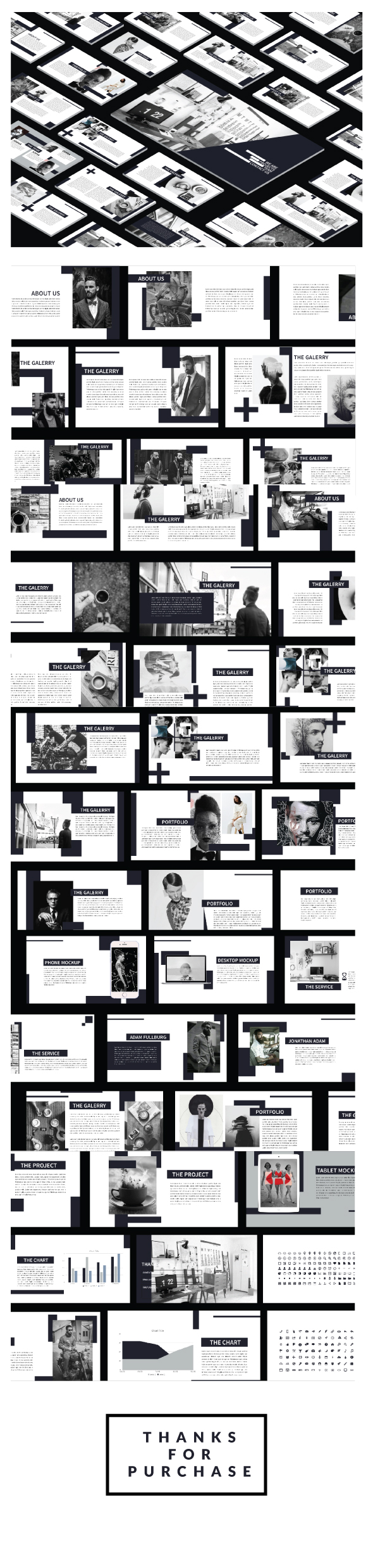 Mnimal Black Powerpoint - Business PowerPoint Templates