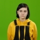 Girl Takes Offense at Her Friend, Turned Away From Him. Green Screen - VideoHive Item for Sale