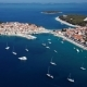 Flying Over Resort Adriatic Town Primosten, Croatia. - VideoHive Item for Sale