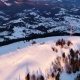 Flying Over Communications Tower, Mountain Snow Covered Winter Landscape - VideoHive Item for Sale
