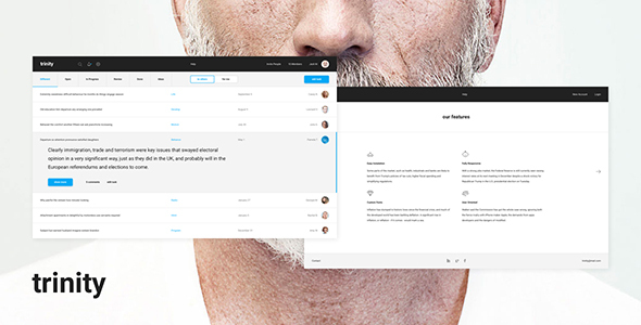 Trinity – Dashboard PSD and Sketch - Business Corporate