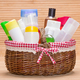 Wicker basket filled with different beauty products - PhotoDune Item for Sale