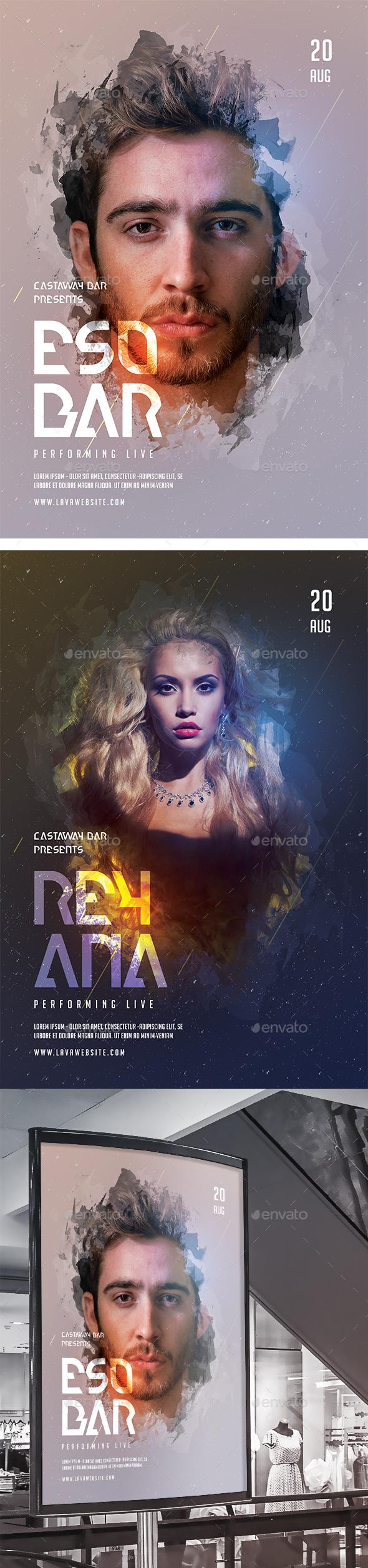 Artist Event Flyer/Poster - Concerts Events