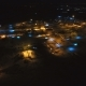 Gas and Oil Industrial From Aerial View in the Winter Night - VideoHive Item for Sale