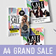 A4 Grand Sale Poster Templates - GraphicRiver Item for Sale