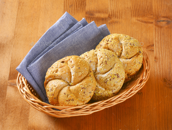 fresh bread buns - Stock Photo - Images