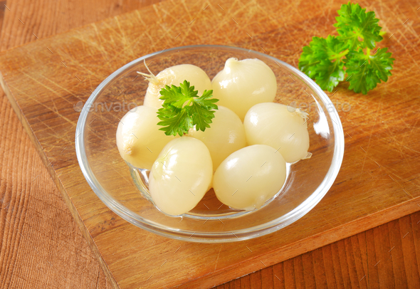 small pickled onions - Stock Photo - Images