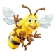 Honey Bee Cartoon Character