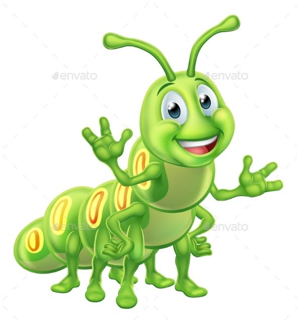 Caterpillar Cartoon Character - Animals Characters
