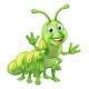 Caterpillar Cartoon Character