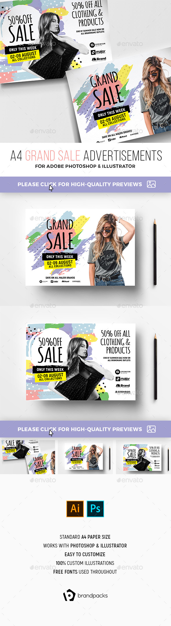 Grand Sale Advertisement Templates - Commerce Flyers