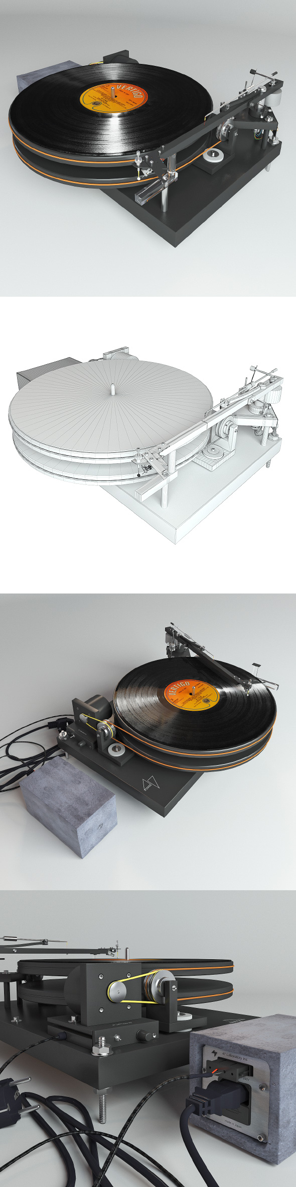 Vinyl player 47 Laboratory 4724 Koma - 3DOcean Item for Sale