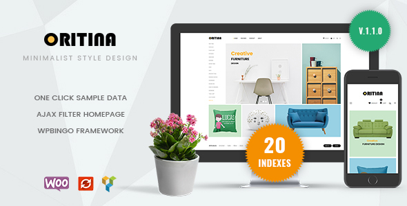 Image of Oritina - Minimal WooCommerce Theme For Furniture, Decor, Interior