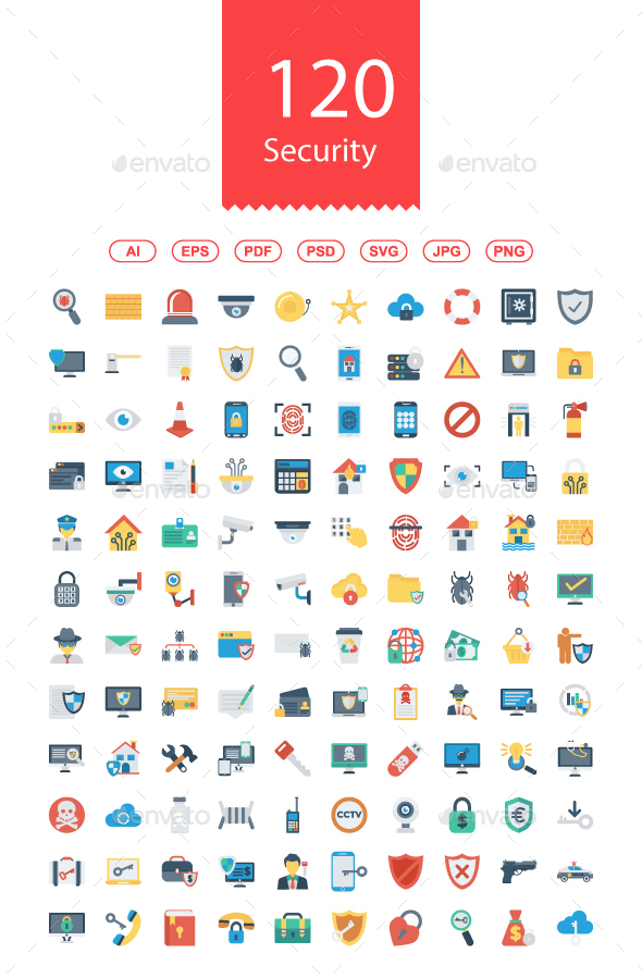 120 Security Flat icon - Business Icons