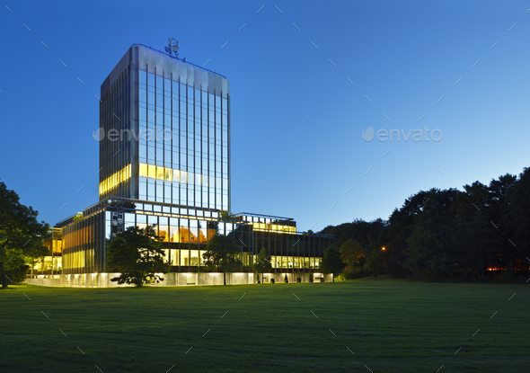 Modern Bank Building, Germany - Stock Photo - Images
