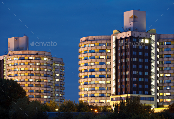 Hospital Tower Buildings - Stock Photo - Images