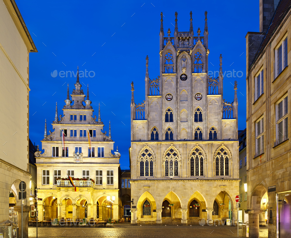 Old Town Hall Of Muenster, Germany - Stock Photo - Images