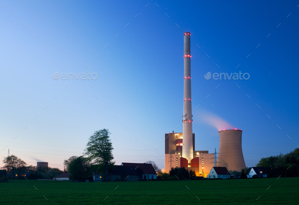 Living At The Power Station - Stock Photo - Images