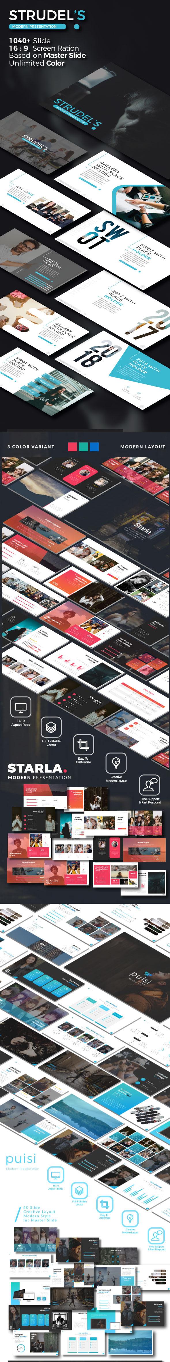 Bundle Business 3 in 1 Google Slide Template - Google Slides Presentation Templates