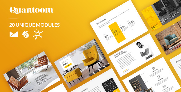 Quantoom Email-Template + Online Builder - Newsletters Email Templates