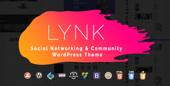 Lynk - Social Networking and Community WordPress Theme - BuddyPress WordPress