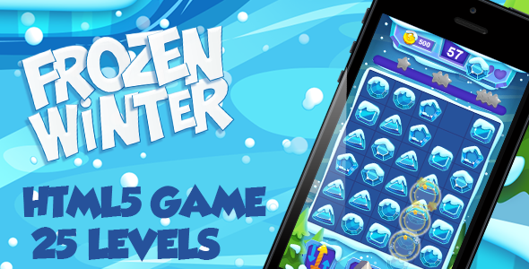 Frozen Winter HTML5 Game [ 25 levels ] - CodeCanyon Item for Sale