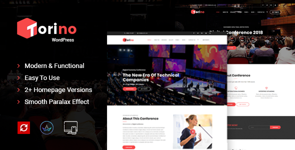 Image of Torino Conference and Event WordPress Theme