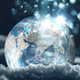 Frozen planet Earth climate change concept - PhotoDune Item for Sale