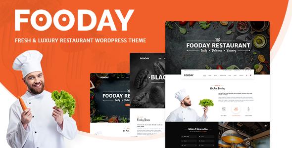 Image of Fooday - Fresh & Luxury Restaurant, Coffee WordPress Theme