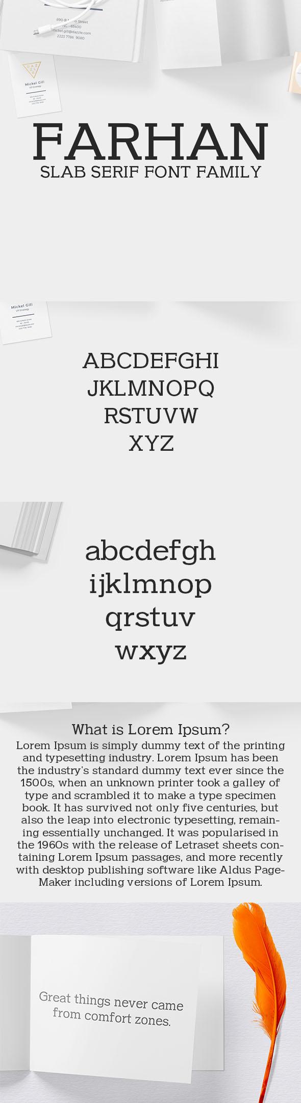 Farhan Slab Serif 5 Font Pack - Sans-Serif Fonts