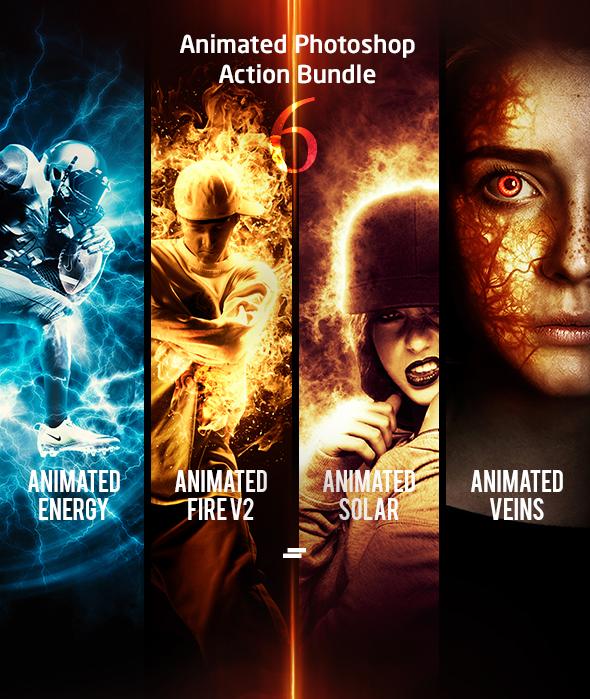 Animated Photoshop Action Bundle 06 - Photo Effects Actions