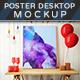 Posters On Desktop Mockups