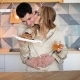 Young Couple in Kitchen Before a Breakfast - VideoHive Item for Sale