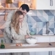 Young Couple in Love Cooking Together in Kitchen - VideoHive Item for Sale
