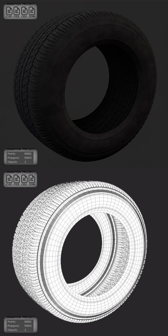 Tire 3D Model - 3DOcean Item for Sale