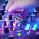 Female Fingers on the Sound Control in the Club - VideoHive Item for Sale