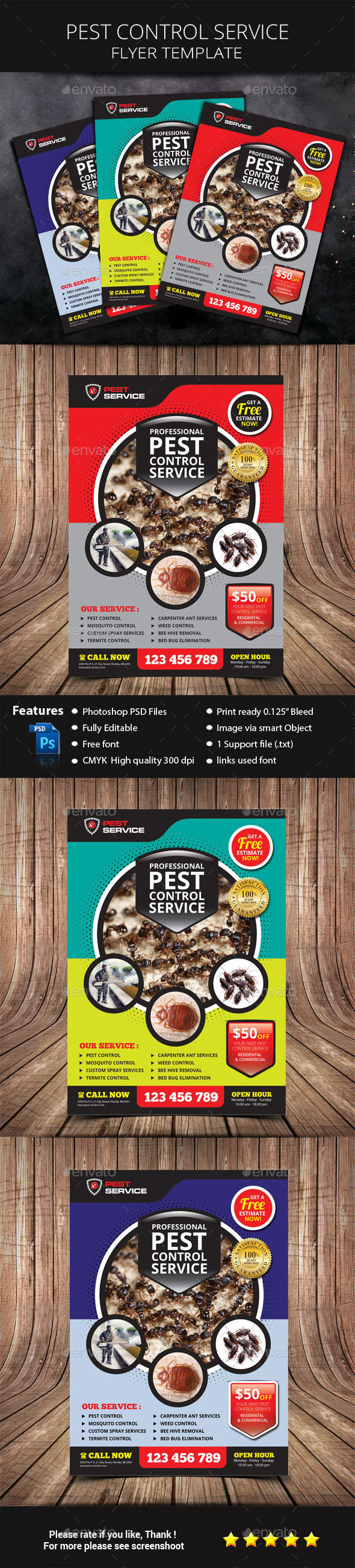 Pest Control Service Flyer - Commerce Flyers