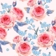 English Roses Seamless - GraphicRiver Item for Sale