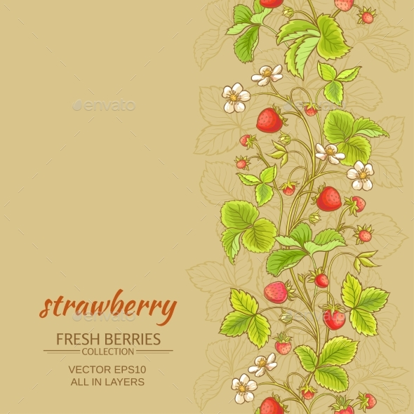Strawberry Vector Background - Food Objects