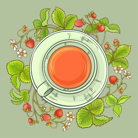 Cup of Strawberry Tea - Food Objects