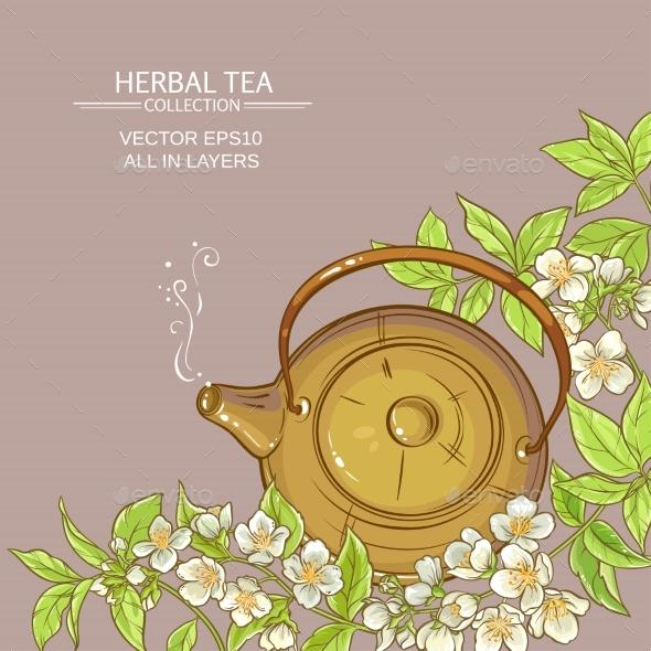 Jasmine Tea Vector  Background - Health/Medicine Conceptual