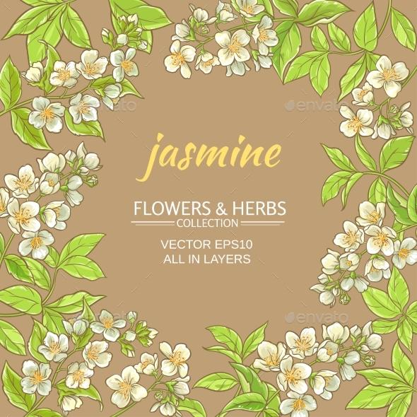 Jasmine Vector Frame - Food Objects
