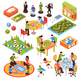 Board Games People Isometric Set
