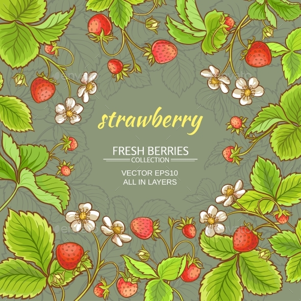 Strawberry Vector Frame - Food Objects