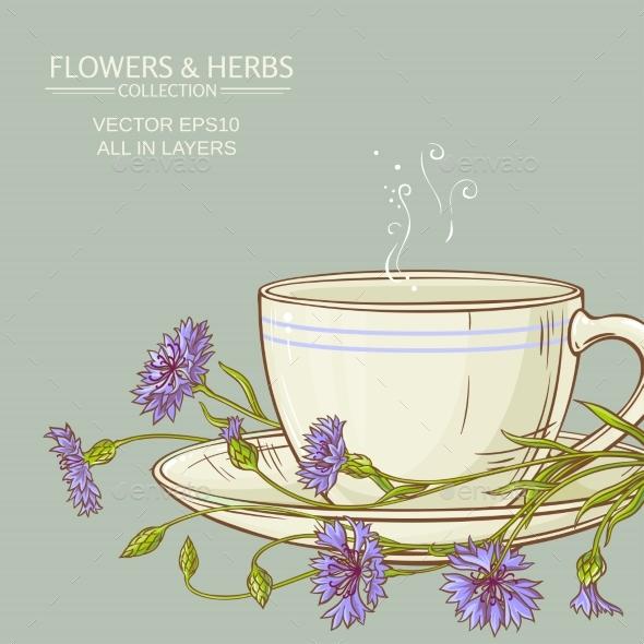 Cup of Cornflower Tea - Flowers & Plants Nature