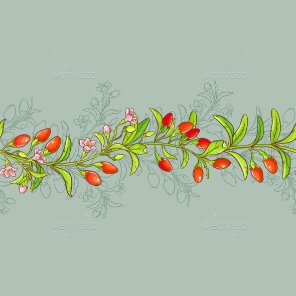 Goji Seamless Pattern - Food Objects